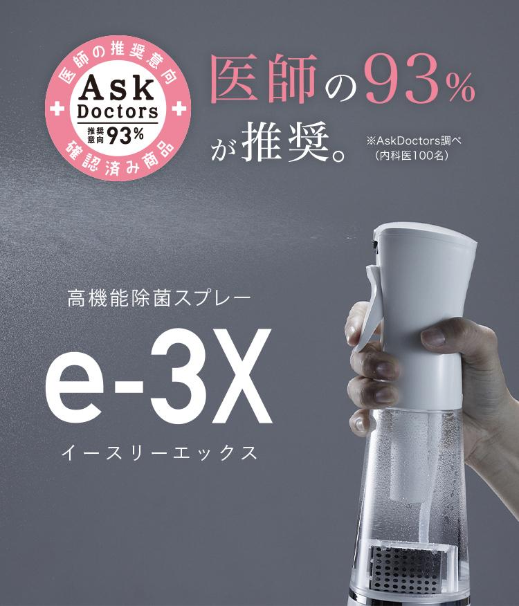 高機能除菌スプレー「e-3X」